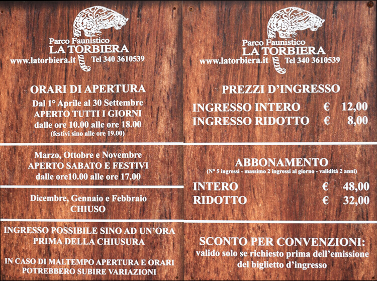 Faunistic Park La Torbiera